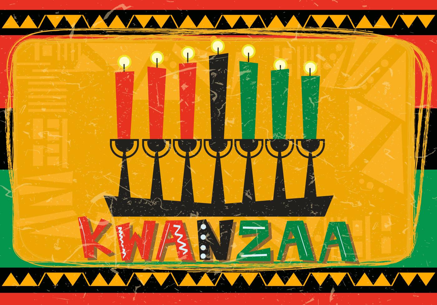 Happy Hanukkah 2018 >> Happy Kwanzaa With Kwanzaa Candle - Download Free Vector Art, Stock Graphics & Images
