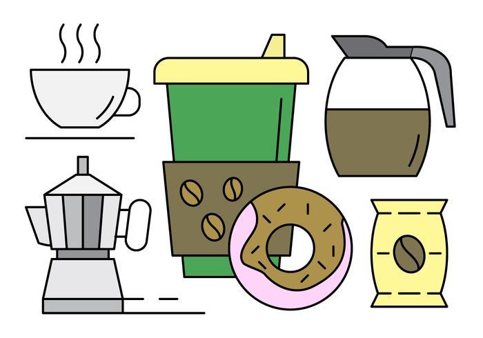 Iconos de café lineal gratis