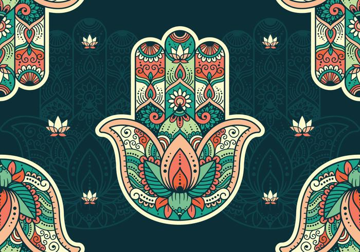 Hamsa Pattern Wallpaper