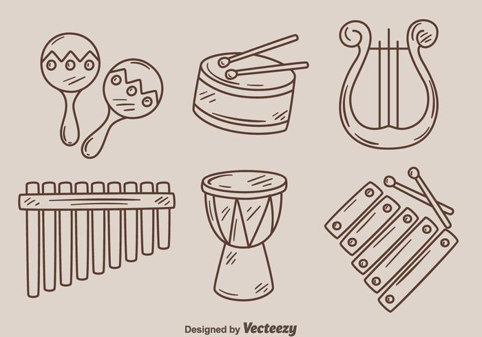 Sketch Music Istrument Vector