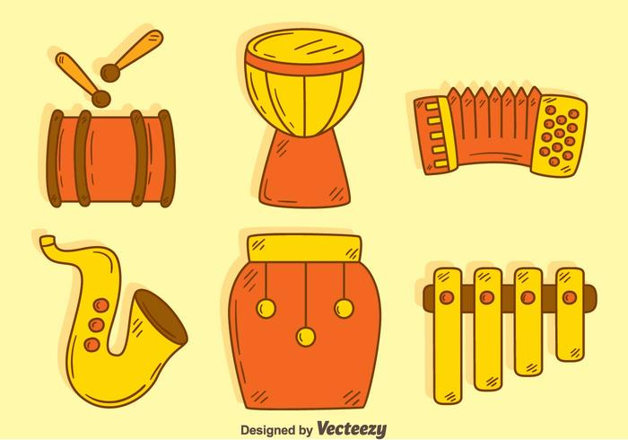 Hand Drawn Traditional Music Instrument Vector