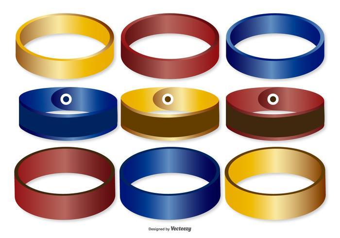 Coleção colorida de faixas de pulso