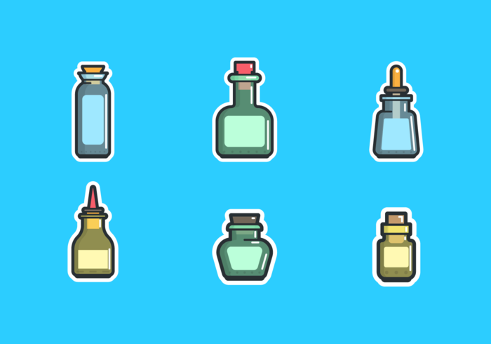 Bottle with Stopper Free Vector Pack