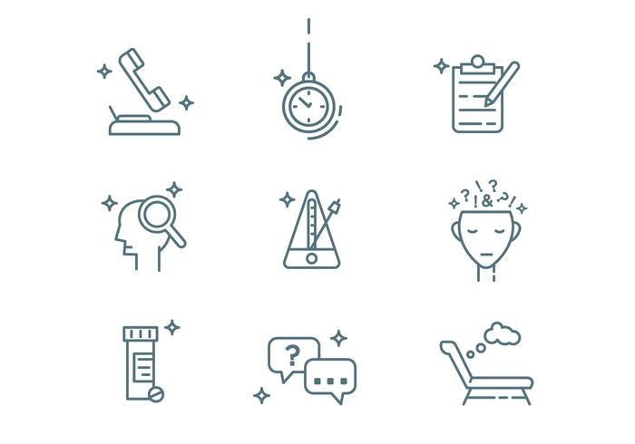 Psychologe Outline Icons