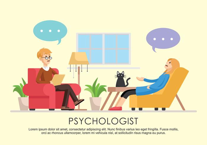 Ilustração vetorial do psicólogo