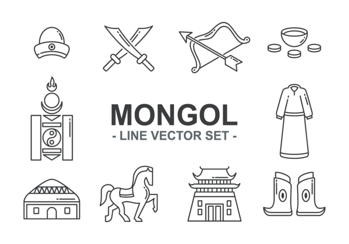 Mongol Icons Vector