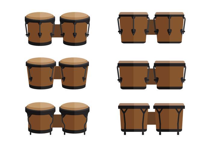Bongo platte vectoren