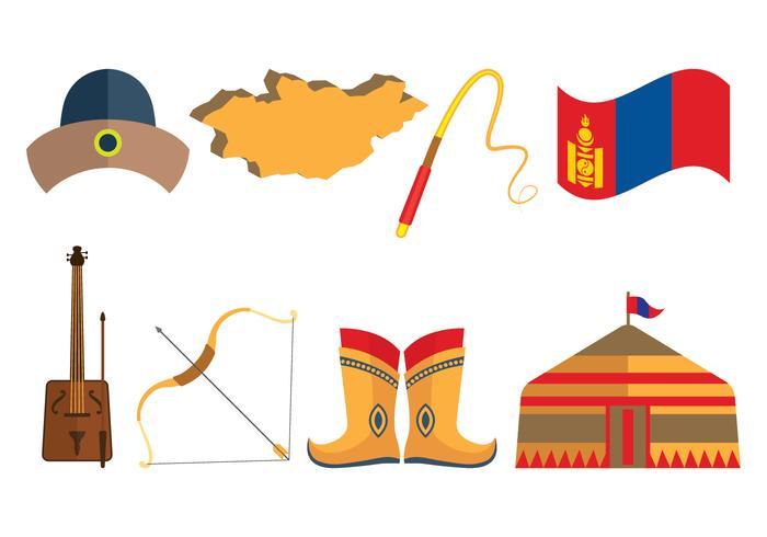 Mongoolse Vector Pictogrammen
