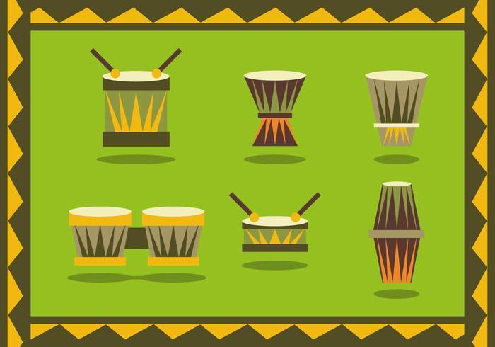 Vettore africano degli strumenti di Bongo