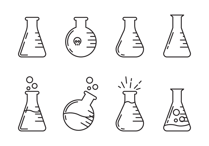 erlenmayer pictogram vector