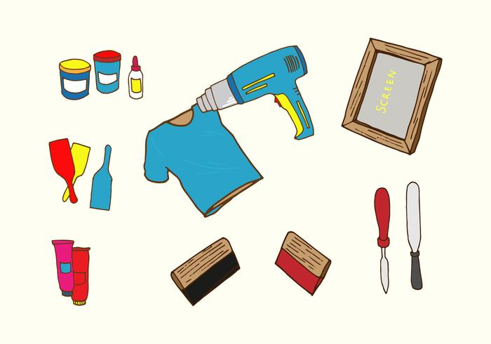 Screen Printing Icons