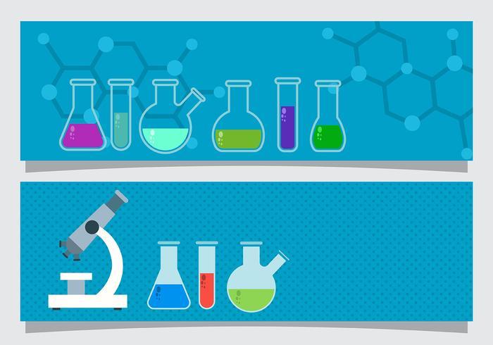 Scienza Beaker Banner Vector