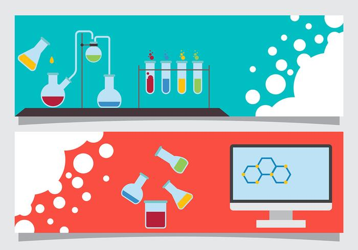 Science Banner Vectors