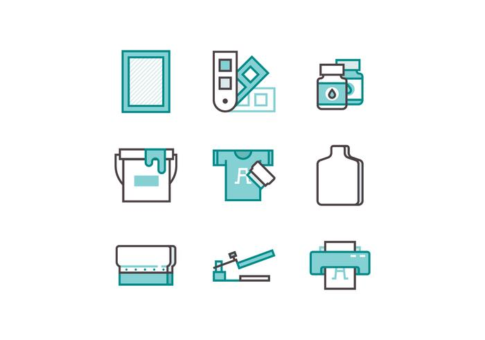 Free Screen Printing Icon Set