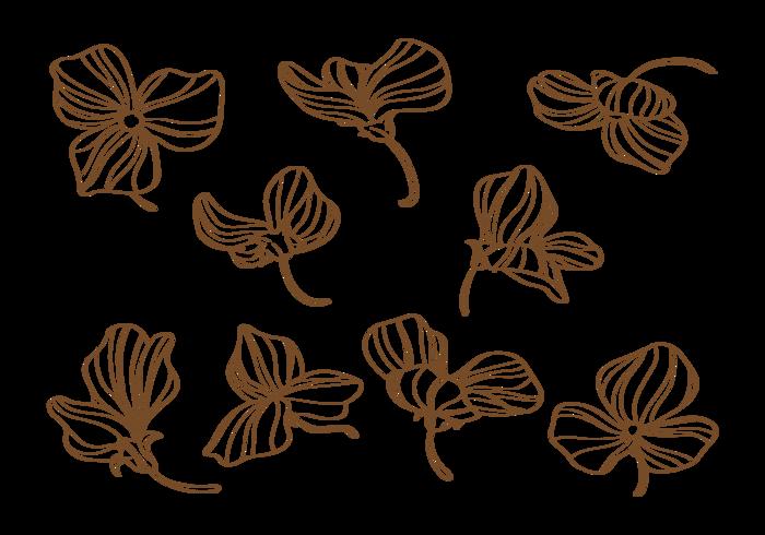Hand gezeichnete süße Erbsen Blumen