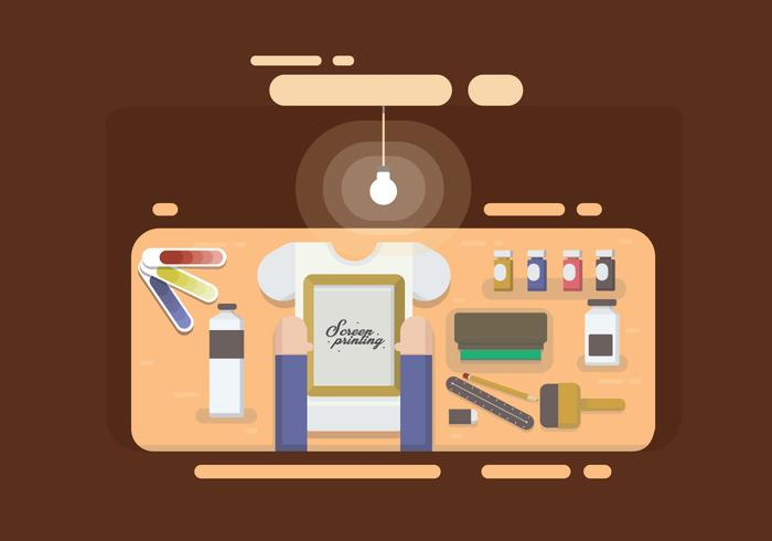 Free Screen Printing Vector