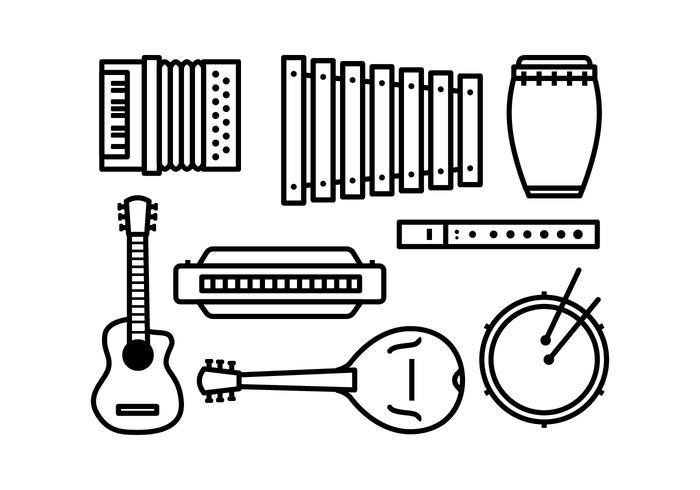 Conjunto de ícones de instrumento