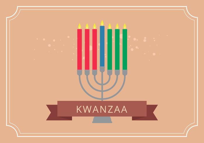 Vector de salutations de l'illustration de Kwanzaa