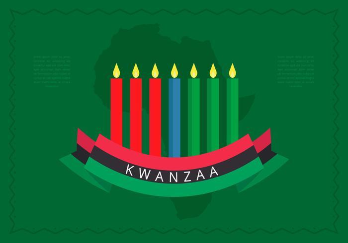 Ilustração do fundo de vetor de cumprimentos da ilustração de Kwanzaa