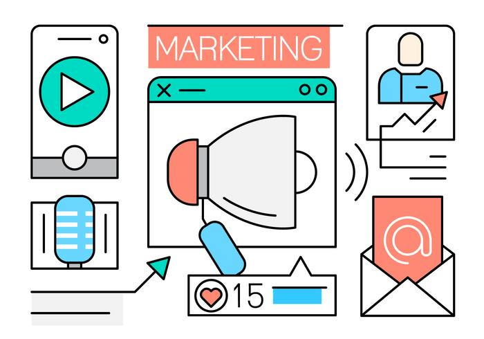 Free Linear Marketing Icons