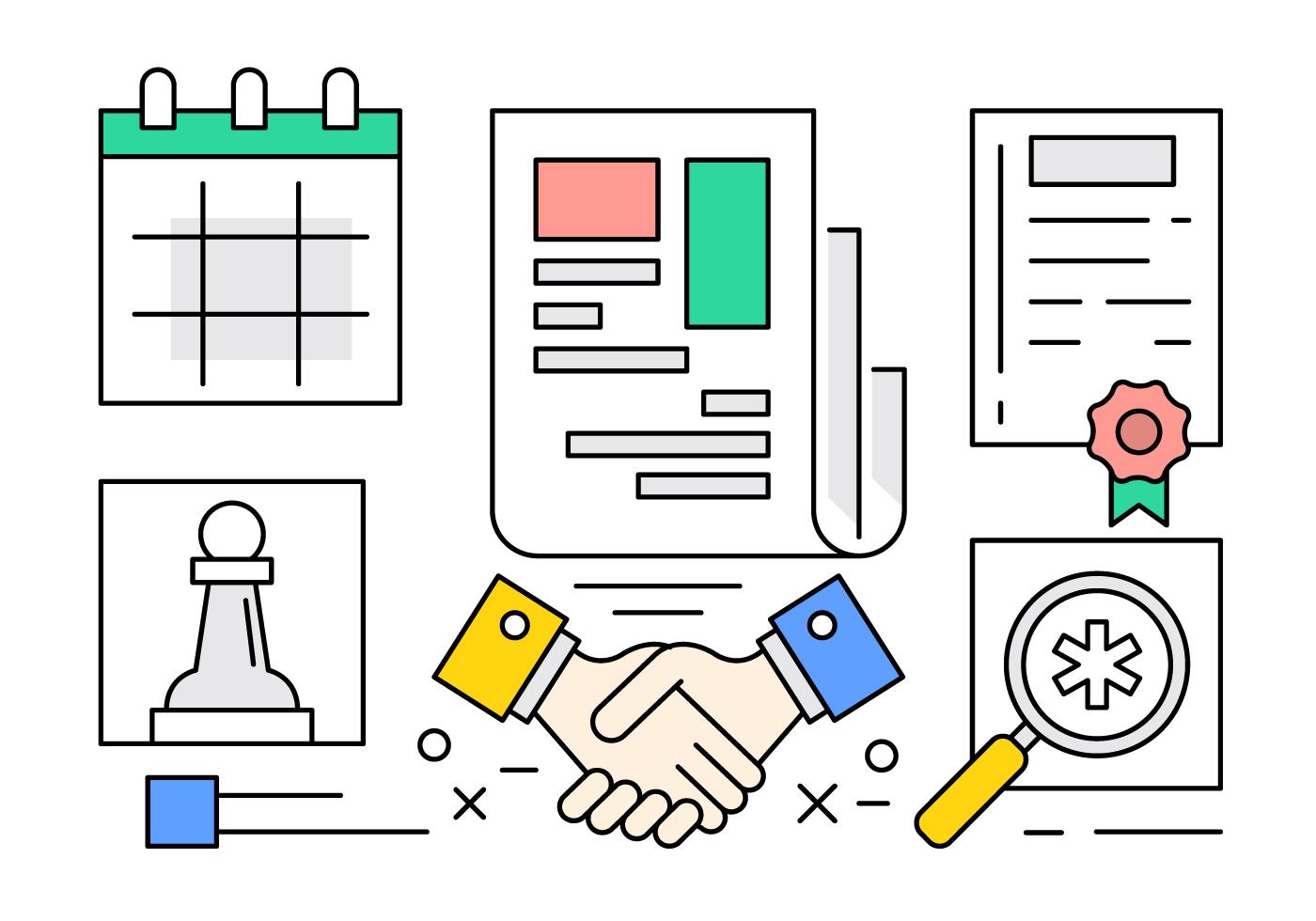 Iconos libres del reparto del negocio - Descargar Vectores