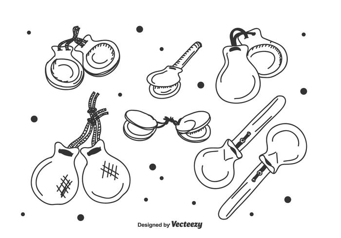 Castanets Vector