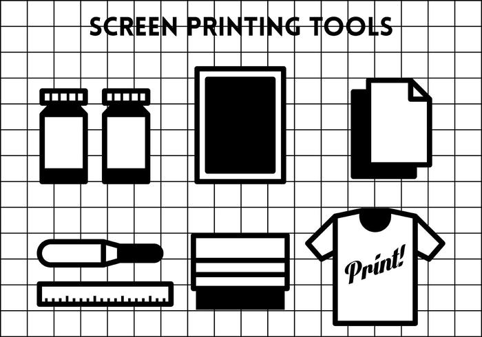 Screen Printing Vector Icons