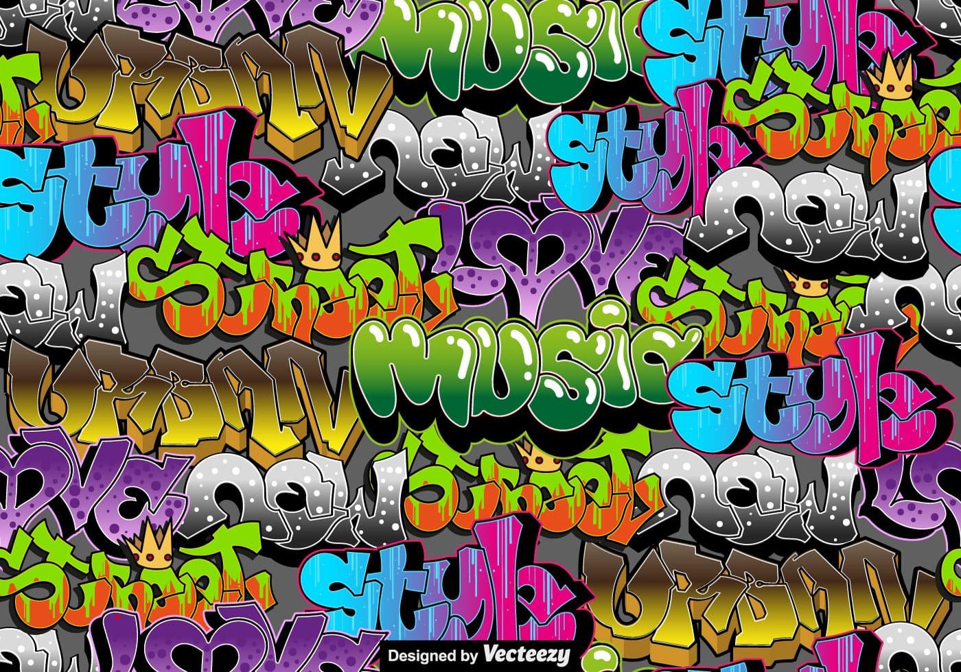 Graffiti free vector art 9873 free downloads