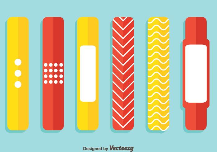 Red And Yellow Wristband Vector