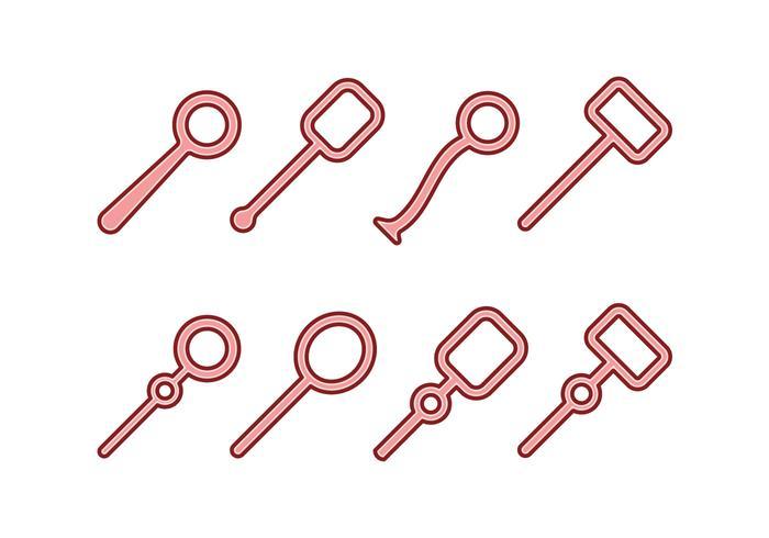 Blasen-Gebläse-Icon-Set