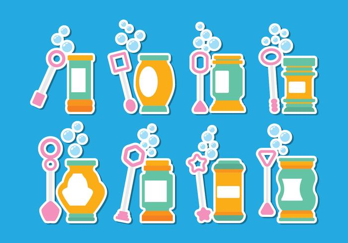 Bubble Blower Icon Set