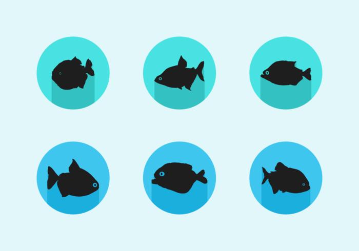 Pacote de vetores grátis piranha