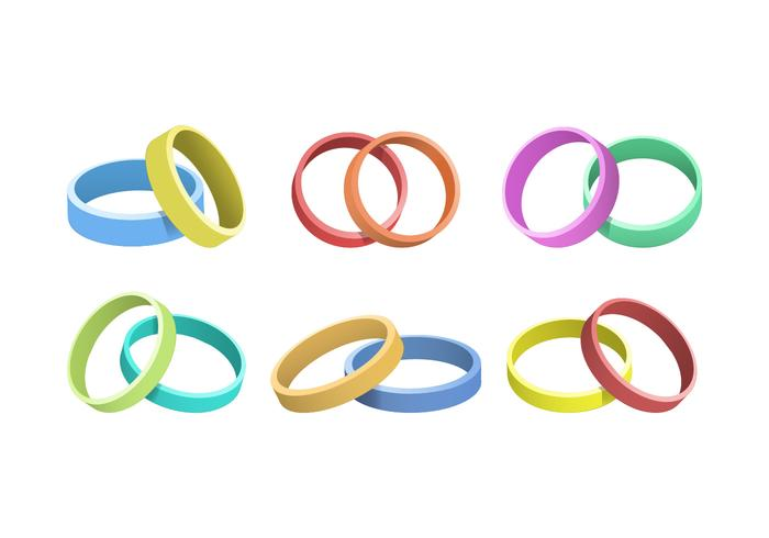 Colorful Wristband Collection Vector Illustration