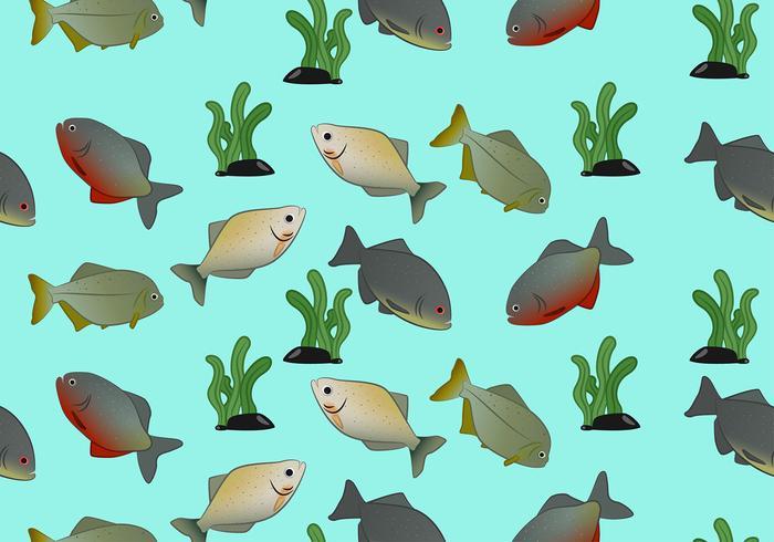 Piranha Muster Freier Vektor