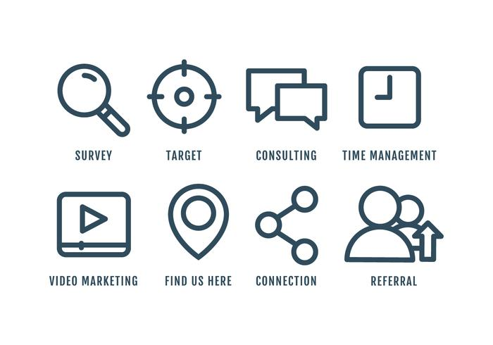 Marketing Icon Set vektor