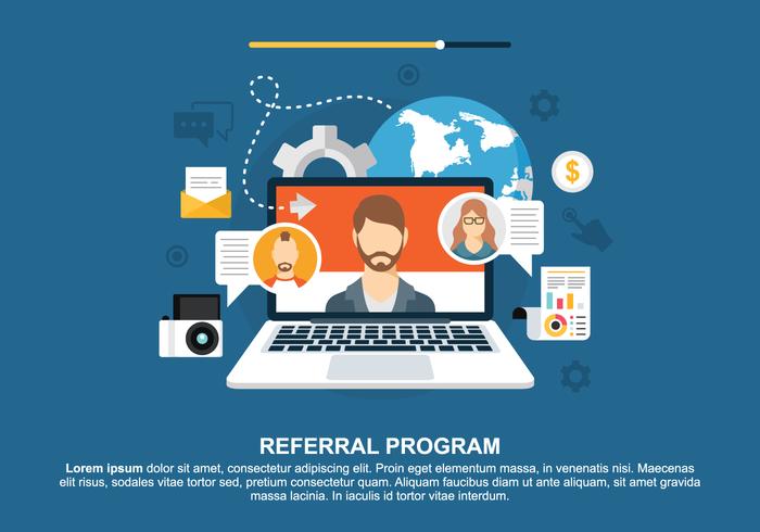 Concept voor Referral Program Vector