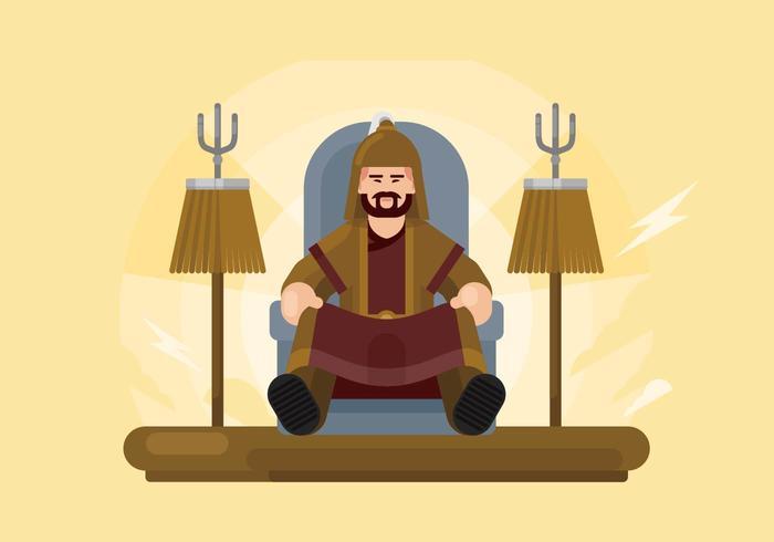 Mongolische Illustration