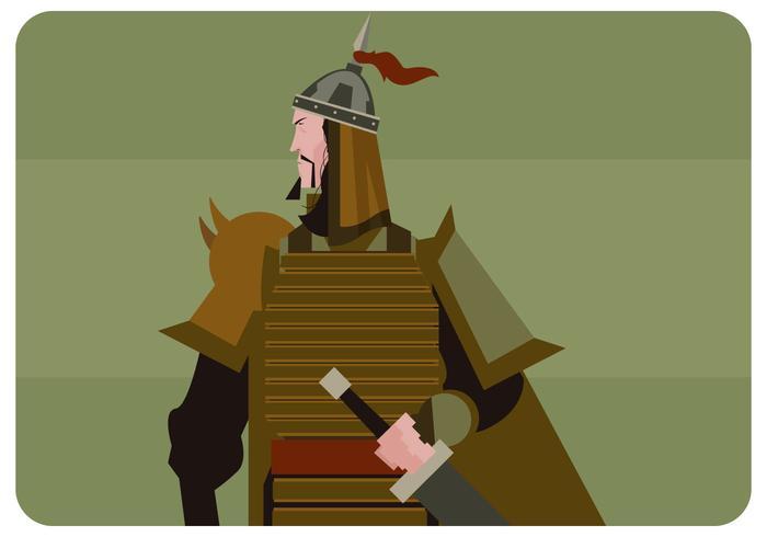 Mongolsk soldatvektor