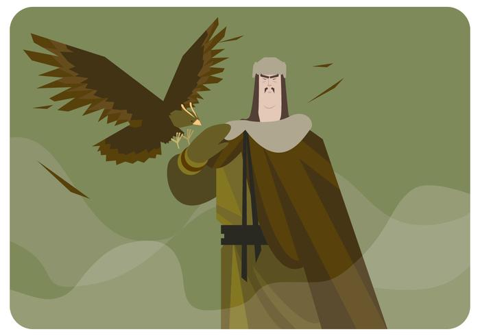 Aquila mongola vettoriale