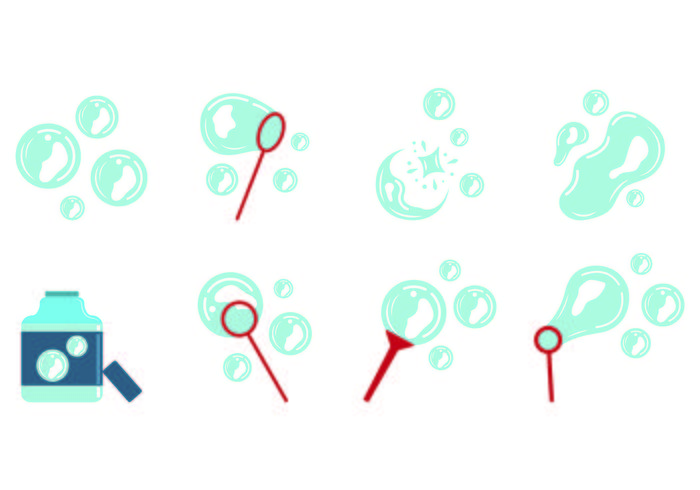 Set Bubble Blower Icons
