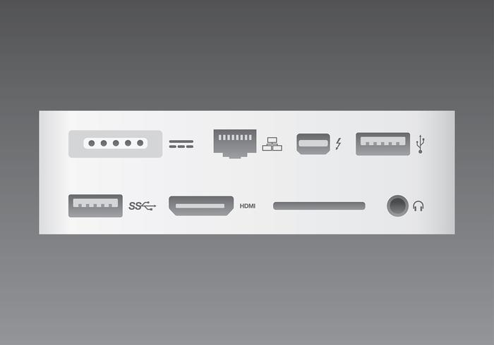 Simple Device Ports Free Vector