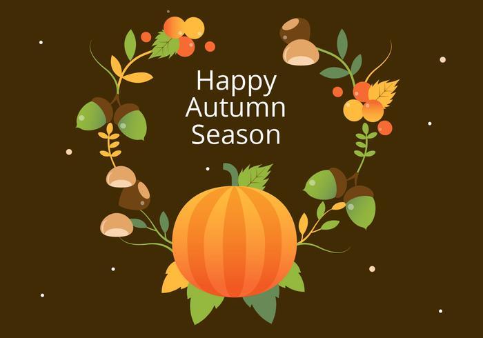 Free Flat Design Vector Autumn Elements