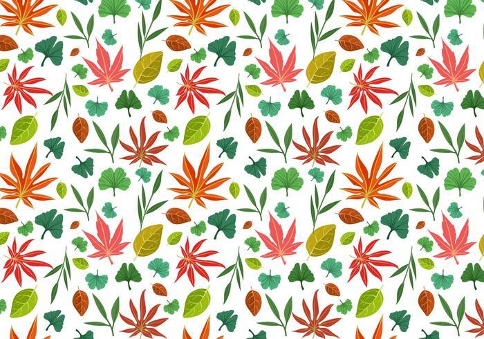 Free Asian Leaves Pattern Vectors