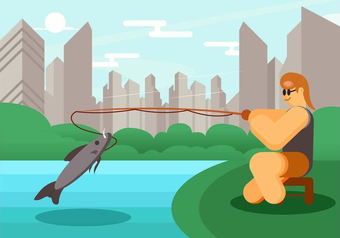 Big Sport Fishing Vector