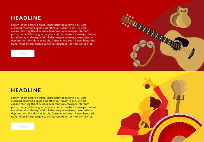 Spanish Music Banner Free Vector