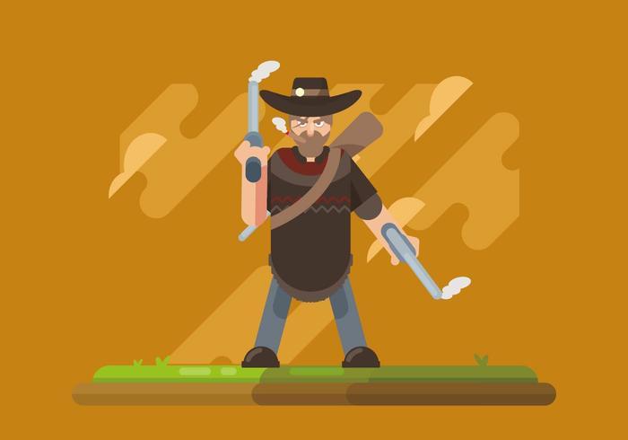 Man in Poncho Illustration