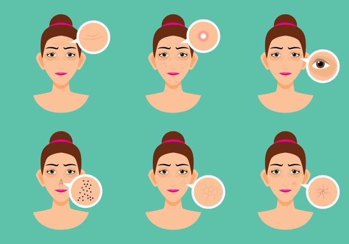 Problema della pelle delle donne