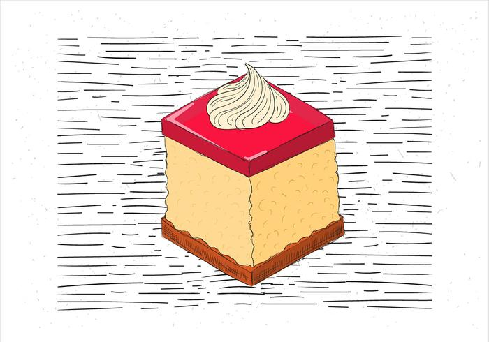 Free Hand Drawn Vector Piece of Cake Illustration