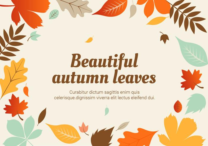 Flat Design Vector Autumn Leaf Illustration