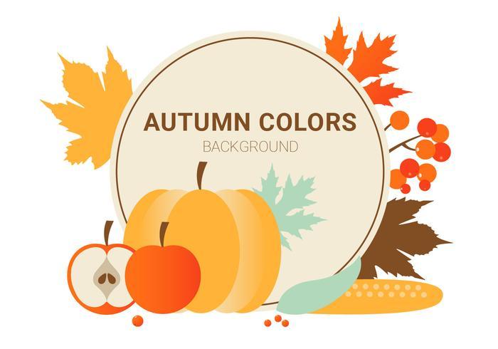 Free Flat Design Vector Autumn Colours
